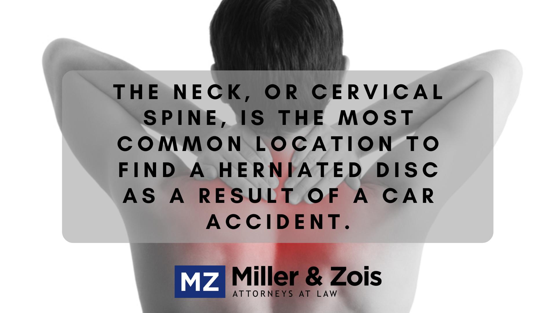 cervical spine herniated disc