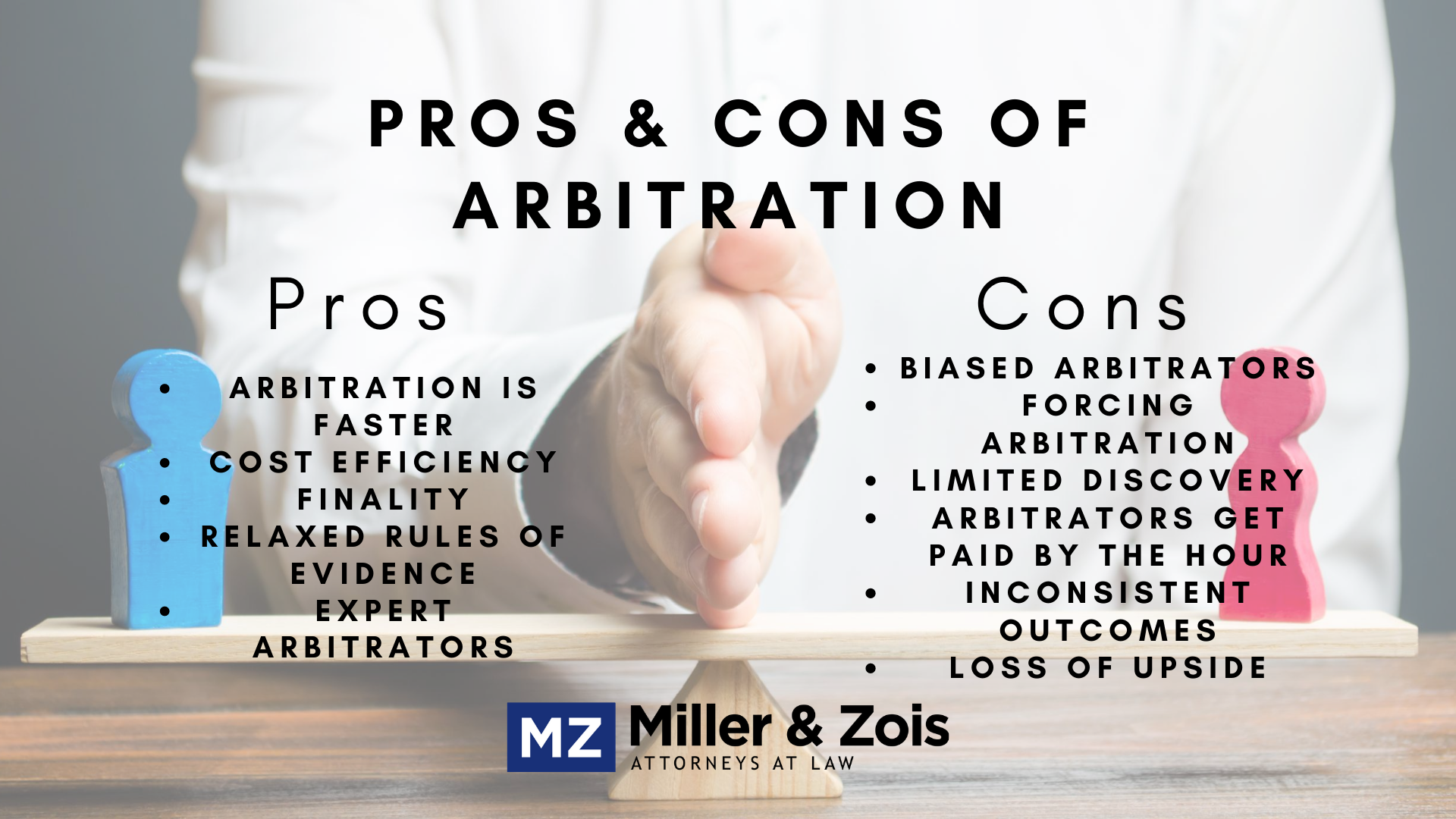 pros cons arbitration