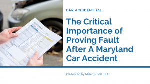 proving fault maryland accident
