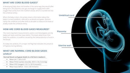 Cord Blood Gases Infographic