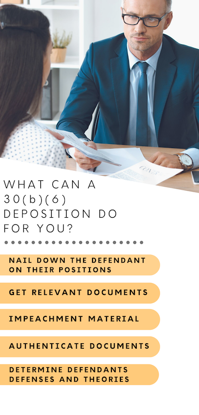 What does Deposition do for You Infographic