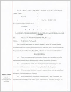 Civil tort complaint example