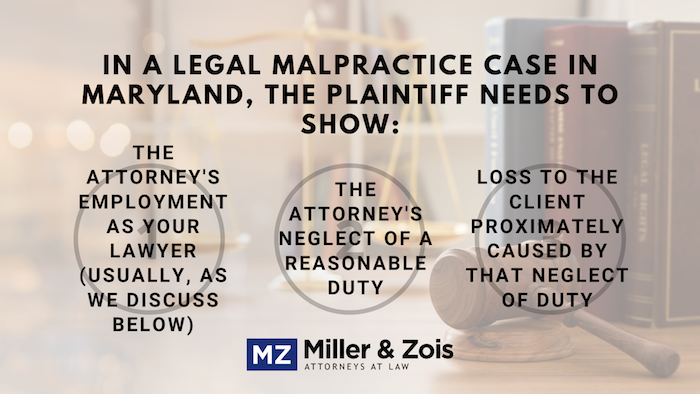 maryland legal malpractice