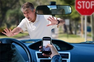 Phone Distraction causes Accident