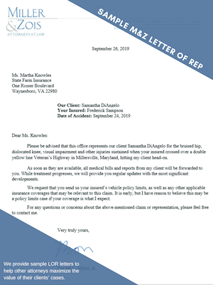 Letter of REP Sample