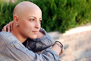 Woman with no Hair